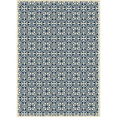 Courson European Design Blue/Beige Indoor/Outdoor Area Rug Rug Size: Rectangle 4 x 6