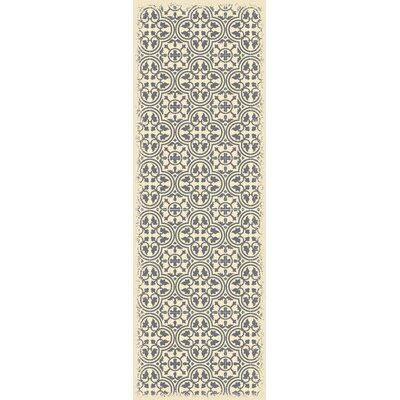 Hotwells European Gray/White Indoor/Outdoor Area Rug Size: Runner 2 x 6