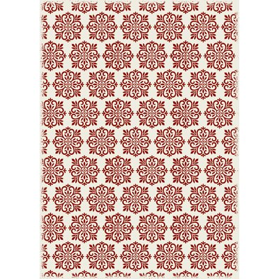 Cotner Modern European Design Red/White Indoor/Outdoor Area Rug Rug Size: Rectangle 4 x 6