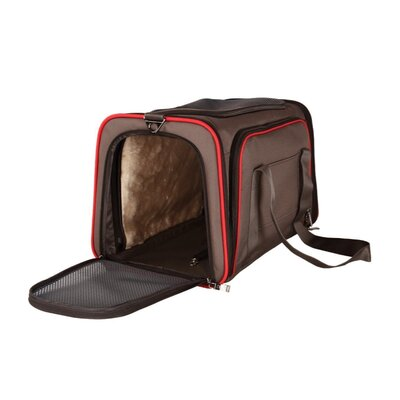 Heavy Duty Expandable Pet Carrier Size: 11 H x 18 W x 11 D