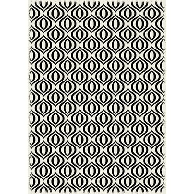 Chow Black/White Indoor/Outdoor Area Rug Size: Rectangle 4 x 6