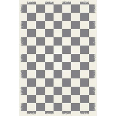Wendt Grey/White Indoor/Outdoor Area Rug Rug Size: Rectangle 4 x 6