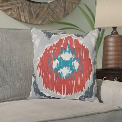 Eudora Original Outdoor Throw Pillow Size: 20 H x 20 W, Color: Gray/Coral