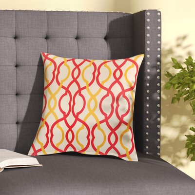 Gaulke Make Waves Cotton Throw Pillow Color: Sorbet