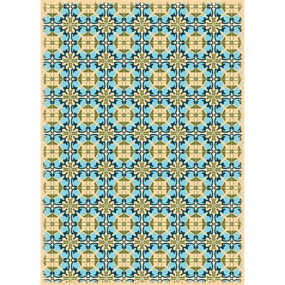 Crase European Design Blue/Yellow Indoor/Outdoor Area Rug
