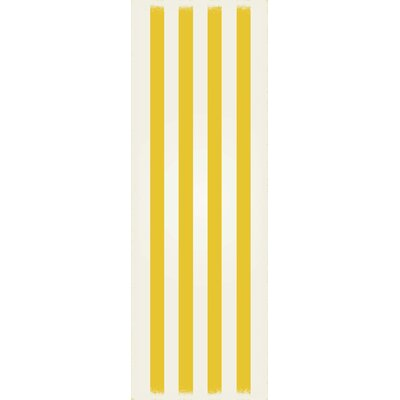 Couture Strips of European Yellow/White Indoor/Outdoor Area Rug Size: Runner 2 x 6