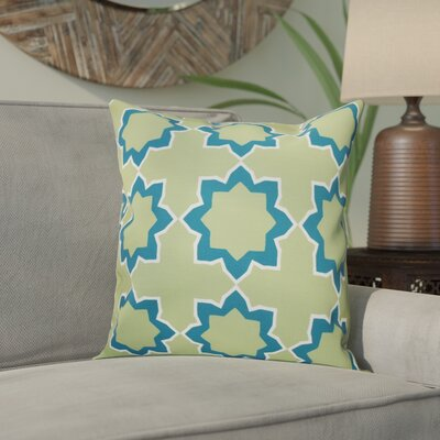 Meetinghouse Bohemian 2 Geometric Outdoor Throw Pillow Size: 18 H x 18 W, Color: Teal