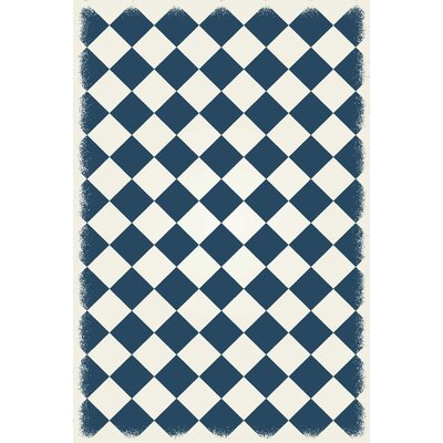 Wells Diamond European Design Blue/White Indoor/Outdoor Area Rug Rug Size: Rectangle 4 x 6