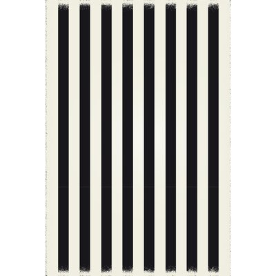 Cronk Strips Design Black/White Indoor/Outdoor Area Rug Rug Size: Rectangle 5 x 7