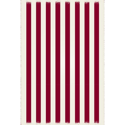 Cropsey Strips Design Red/White Indoor/Outdoor Area Rug Rug Size: Rectangle 4 x 6