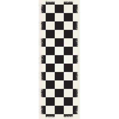 Wendling Black/White Indoor/Outdoor Area Rug Rug Size: Runner 2 x 6