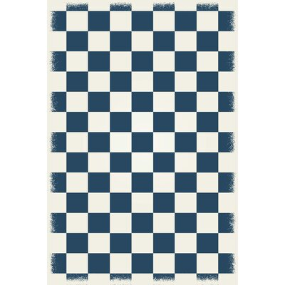 Wendler Blue/White Indoor/Outdoor Area Rug