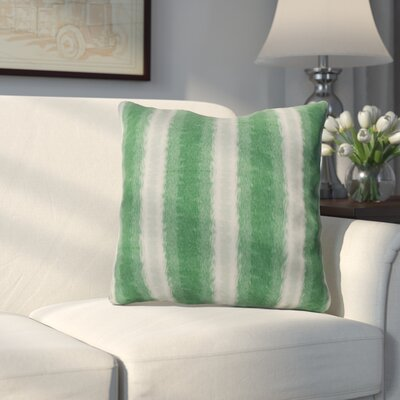 Wilkinsburg Sea Lines Indoor/Outdoor Throw Pillow Size: 16 H x 16 W, Color: Green