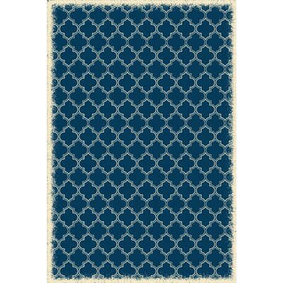 Wheatland Quaterfoil Design Blue Indoor/Outdoor Area Rug Rug Size: Rectangle 4 x 6