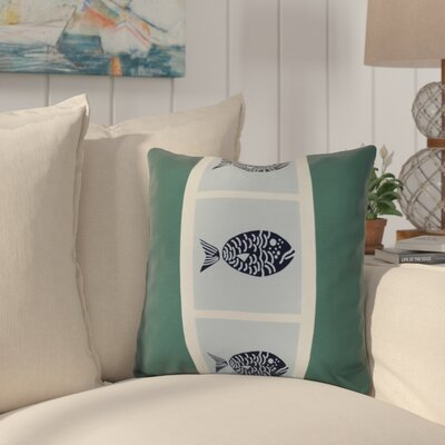 Bartow Fish Chips Outdoor Throw Pillow Size: 18 H x 18 W x 3 D, Color: Green