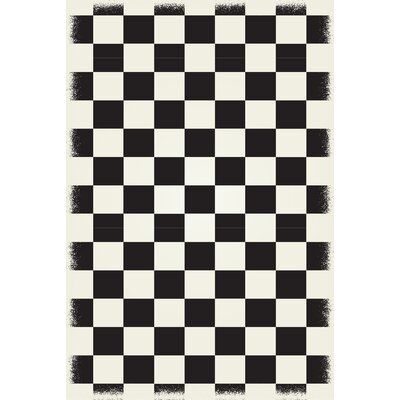 Wendling Black/White Indoor/Outdoor Area Rug Rug Size: Rectangle 4 x 6