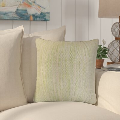 Lafitte Stripes Cotton Throw Pillow Color: Celery