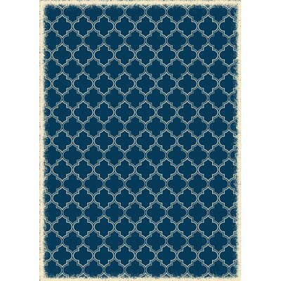 Houchin Quaterfoil Blue/White Indoor/Outdoor Area Rug Size: Rectangle 4 x 6