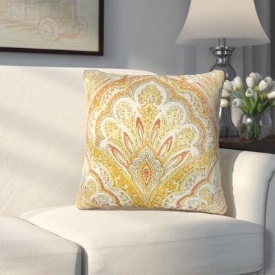 Whittaker Paisley Cotton Throw Pillow Color: Amber