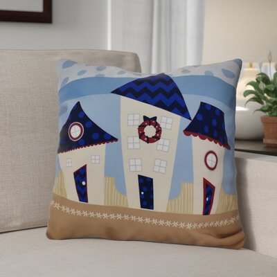 Decorative Holiday Geometric Print Throw Pillow Size: 26 H x 26 W, Color: Navy Blue