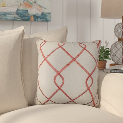 Larchwood Geometric Throw Pillow Color: Rosewood