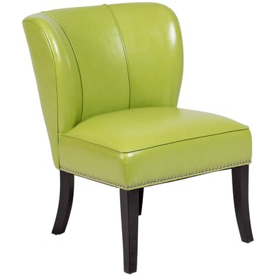 Townville Slipper Chair Upholstery: Green