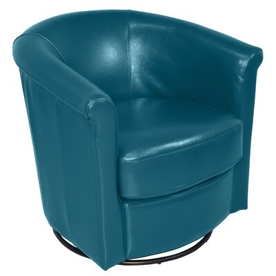 Marvel Swivel Barrel Chair Upholstery: Blue