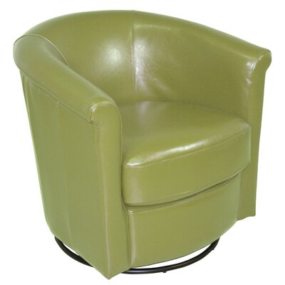 Marvel Swivel Barrel Chair Upholstery: Green