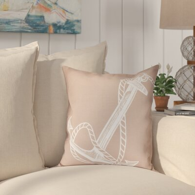 Hancock Anchored Geometric Print Outdoor Throw Pillow Size: 20 H x 20 W, Color: Taupe