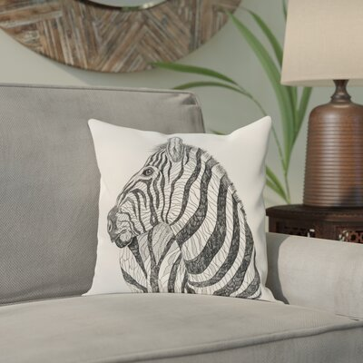 Karle Throw Pillow Size: 18 H x 18 W, Color: Ivory/Black