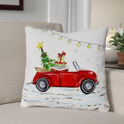VW Bug Throw Pillow Size: 18 x 18