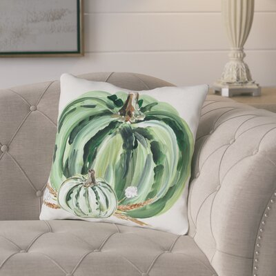 Brawley Pumpkins Throw Pillow Size: 16