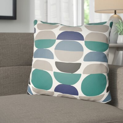 Wakefield Throw Pillow Size: 20 H x 20 W x 4 D, Color: Teal/Grey