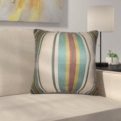 Ruckman Stripe Silk Throw Pillow