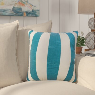 Staples Stripes Cotton Throw Pillow Color: Blue