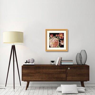 "'Mixed Floral IV Crop I' Print Size: 28"" H x 28"" W, Format: Golden Framed 0E46F53A22BF4379B188B607D9CB3494"