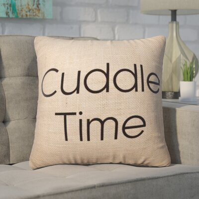 Pettis Cuddle Time Throw Pillow Pillow Cover Color: Brown