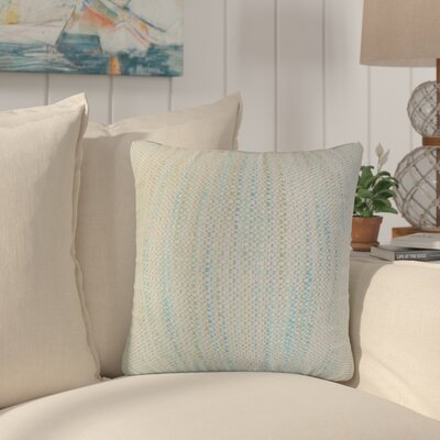 Lafitte Stripes Cotton Throw Pillow Color: Baby Blue