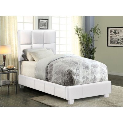 Rota Upholstered Panel Bed Color: White, Size: Twin