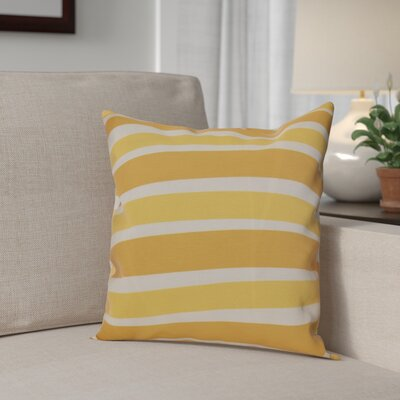 Hanukkah 2016 Decorative Holiday Striped Outdoor Throw Pillow Size: 16 H x 16 W x 2 D, Color: Gold