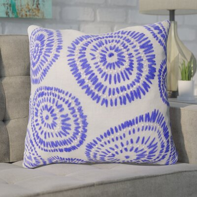 Paxson Geometric Embroidered Throw Pillow Color: Blue