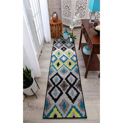 Melendez Wool Blue Indoor/Outdoor Area Rug Rug Size: Runner 2 x 8