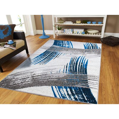 Melendy Wool Blue Indoor/Outdoor Area Rug Rug Size: Rectangle 8 x 11