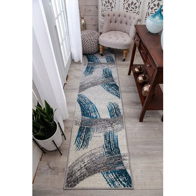 Melendy Wool Blue Indoor/Outdoor Area Rug Rug Size: Runner 2 x 8