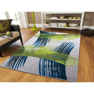 Meleze Wool Blue Indoor/Outdoor Area Rug Rug Size: Rectangle 5 x 8