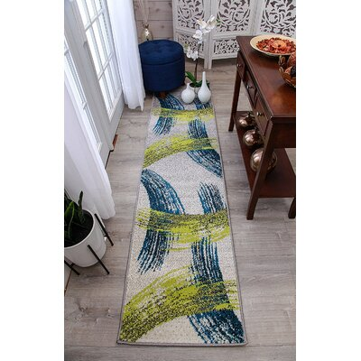 Meleze Wool Blue Indoor/Outdoor Area Rug Rug Size: Runner 2 x 8