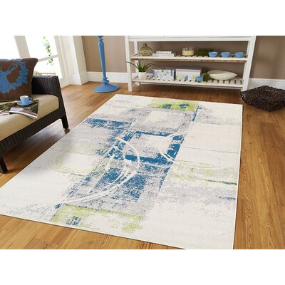 Cotner Wool White Indoor/Outdoor Area Rug Rug Size: Rectangle 5 x 8