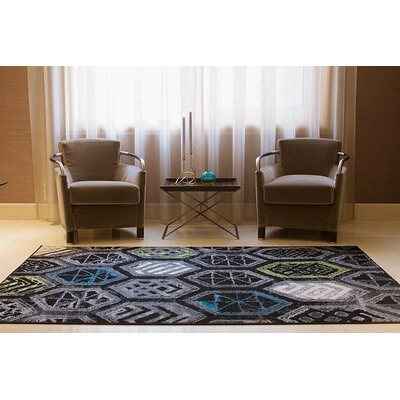 Melbourne Wool Black Indoor/Outdoor Area Rug Rug Size: Rectangle 5 x 8