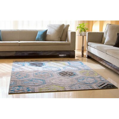 Melby Wool Gray Indoor/Outdoor Area Rug Rug Size: Rectangle 8 x 11
