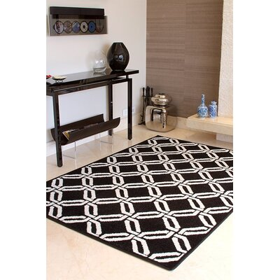 Crofoot Wool Black Indoor/Outdoor Area Rug Rug Size: Rectangle 5 x 8